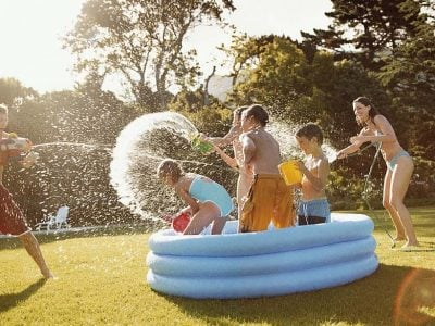 Kids playing in Best Above Ground Pools