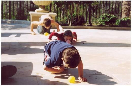 Water Balloon Roll Game