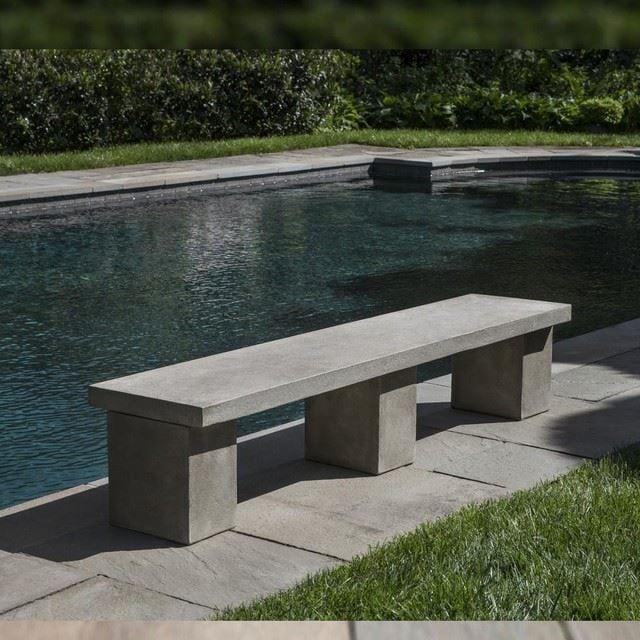 Concrete Block Bench