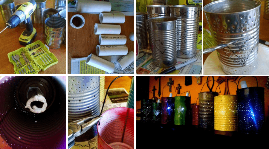 Materials Required for Making Tin Can Solar Lights