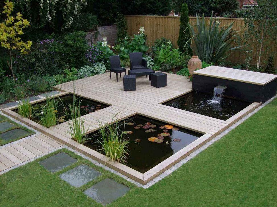 Modern Garden Pond Idea