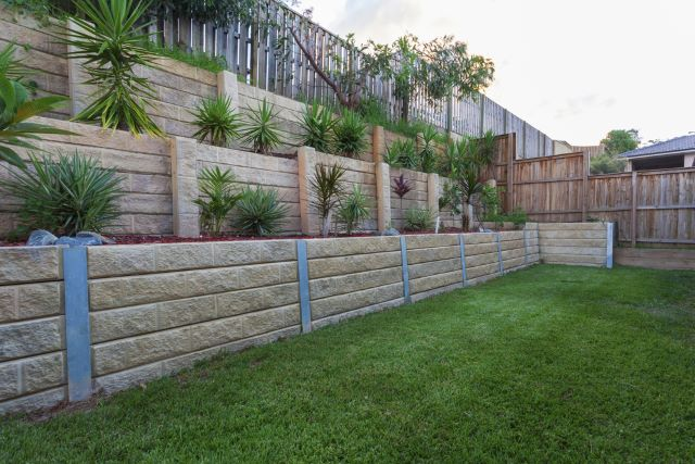 Tall Staircase Retaining Wall