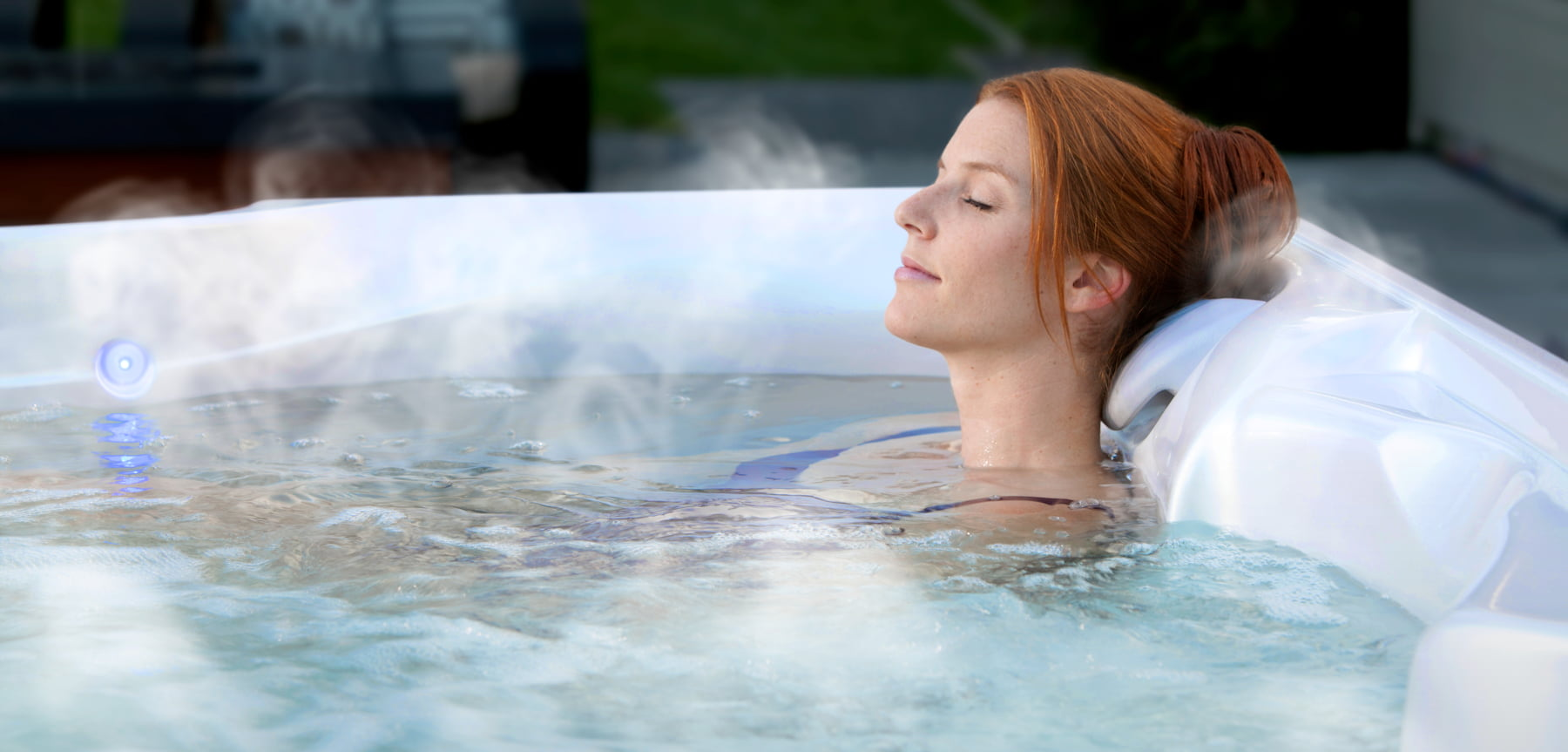 Soaking in a Hot Tub