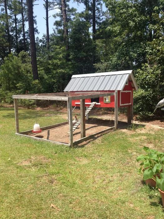 Poultry Hen House With Run Kennel