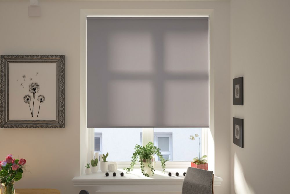 Catania Graphite Electric Roller Blind