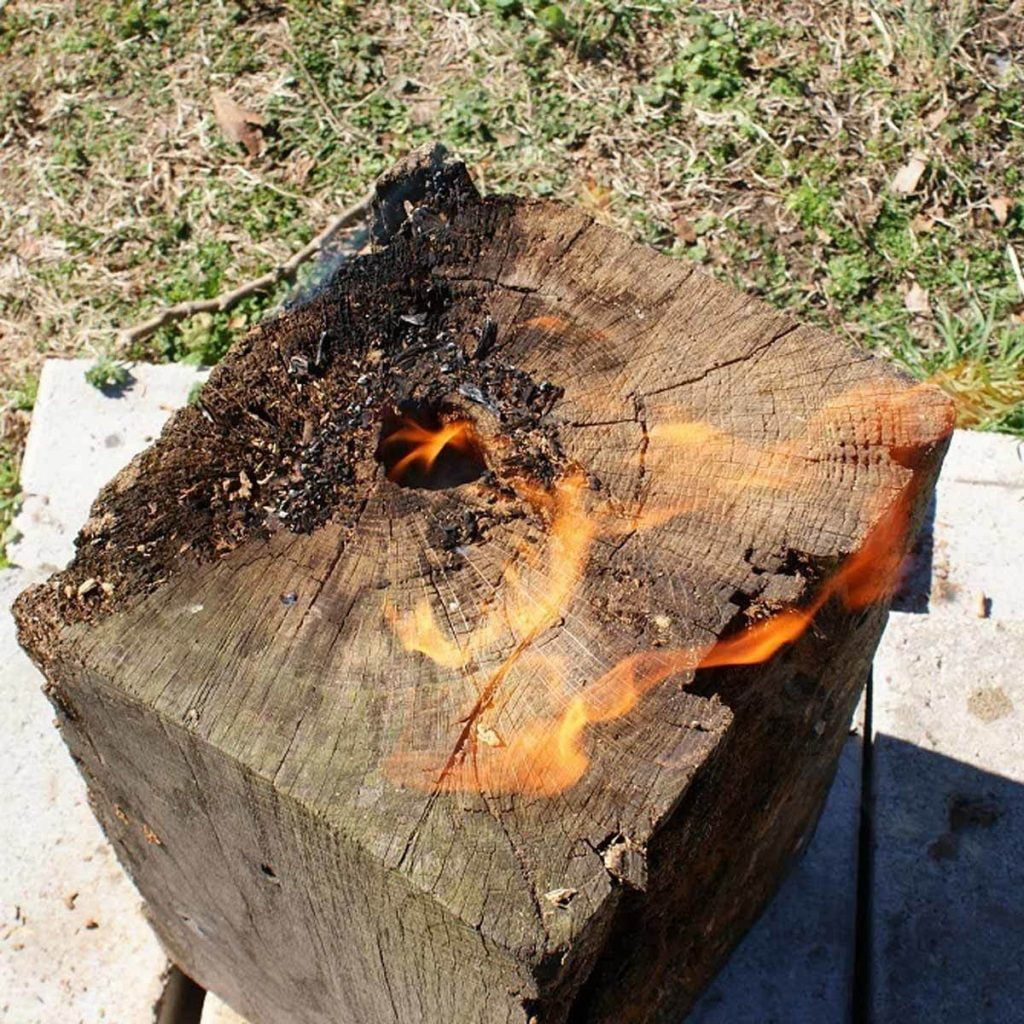 Russian Tree Torch Fire Pit