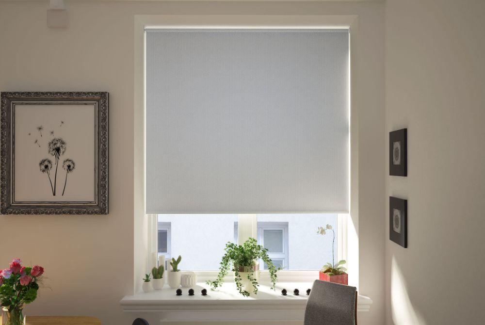 Udine Light Grey Blackout Roller Blind