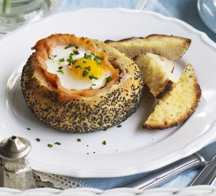 Baked Salmon & Eggs