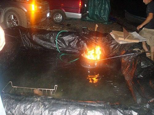 Camp Side DIY Hot Tub