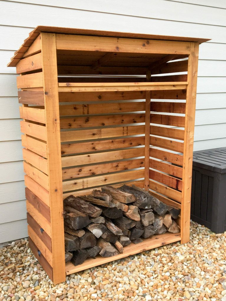 Cedar Firewood Rack & Storage Shed