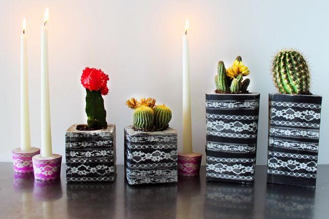 Concrete and Lace Bookends