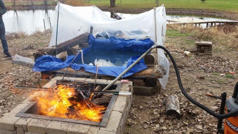 Wood Burning Hot Tub