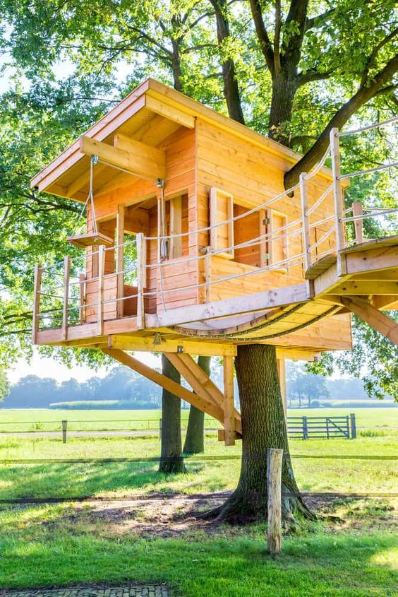 Deck Treehouse Ideas