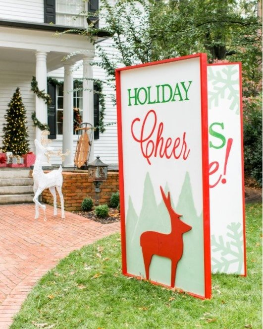 Giant Christmas Greeting Card for the Lawn