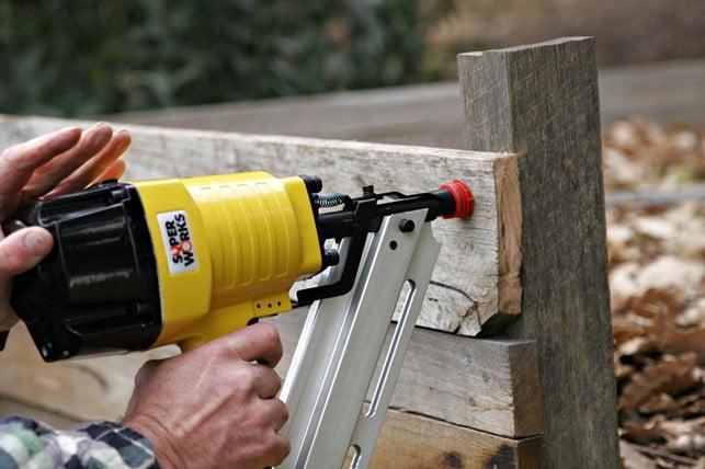 Nail Gun on Wood