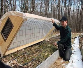 PVC Cold Frame with Hoop House Technique