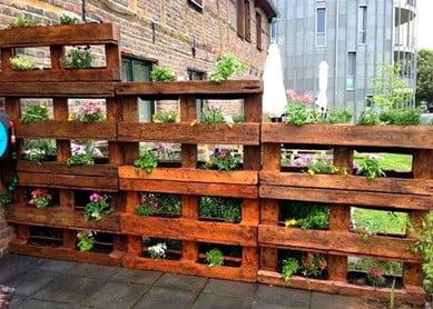 Plantable Pallet Garden Fence