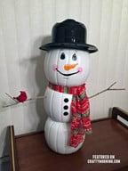 Plastic Pumpkin Snowman