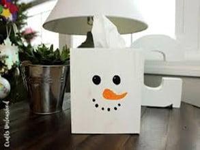 Snowman Tissue Box