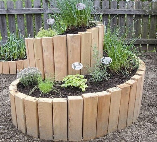 Spiral Pallet Garden
