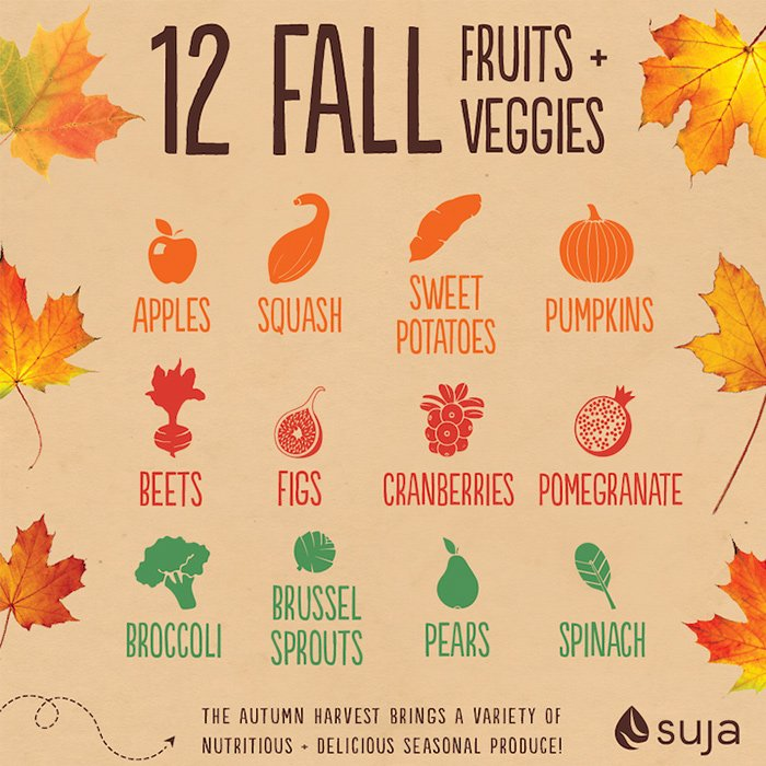 Vegetables and Fruits of Fall