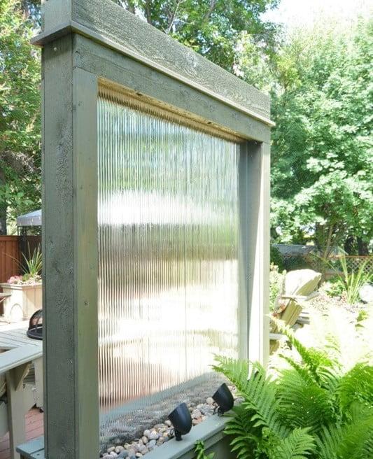 Windowpane Falling Water Fountain