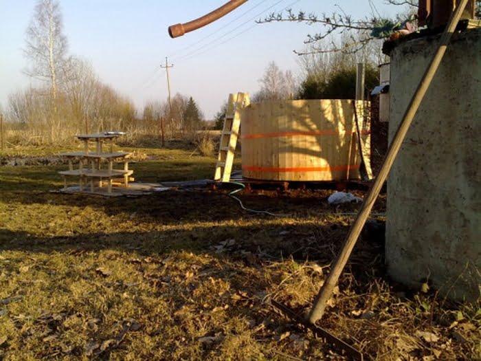 Pine Timber Homemade Hot Tub