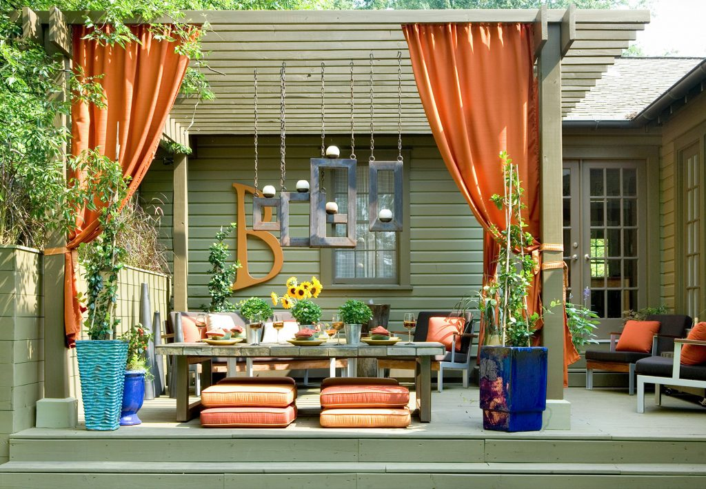 Use Curtains for Backyard Privacy