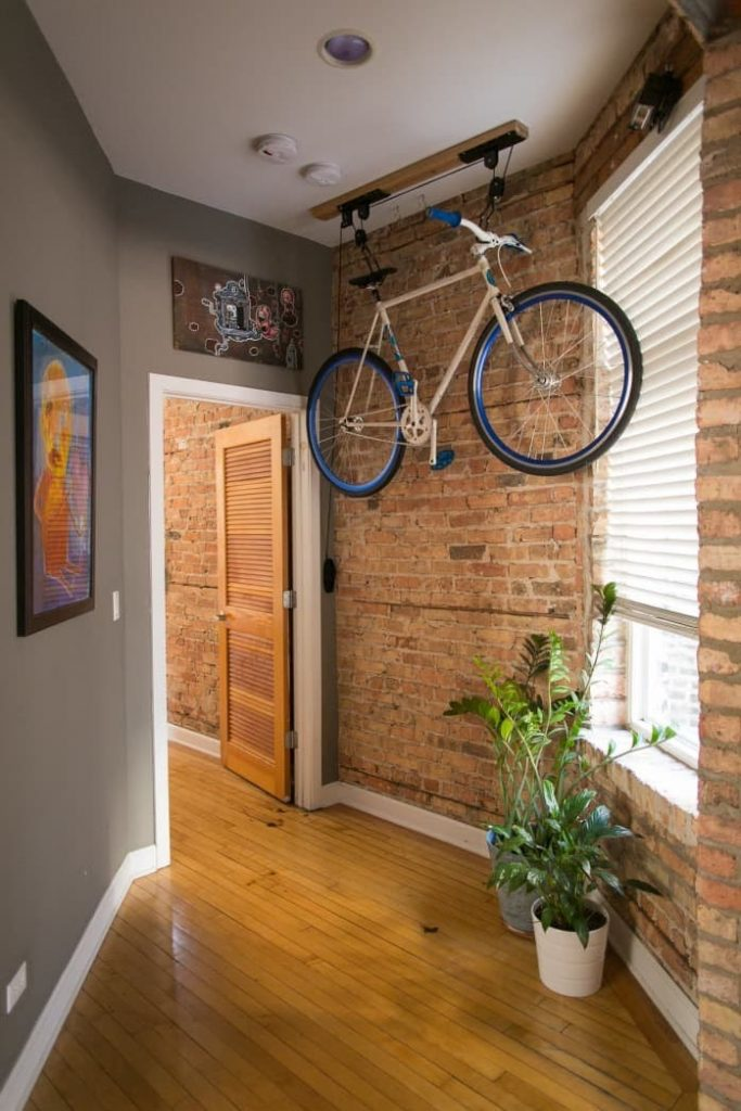 Bike Storage with Pully