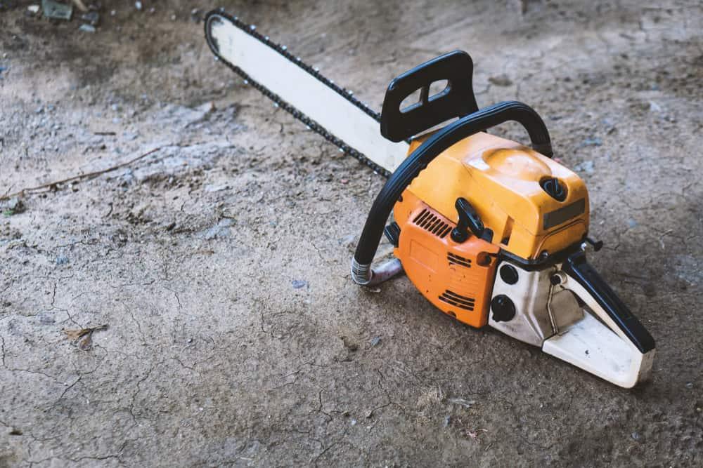 Chainsaw on Ground