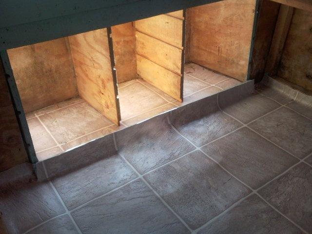 Concrete floor chicken coop