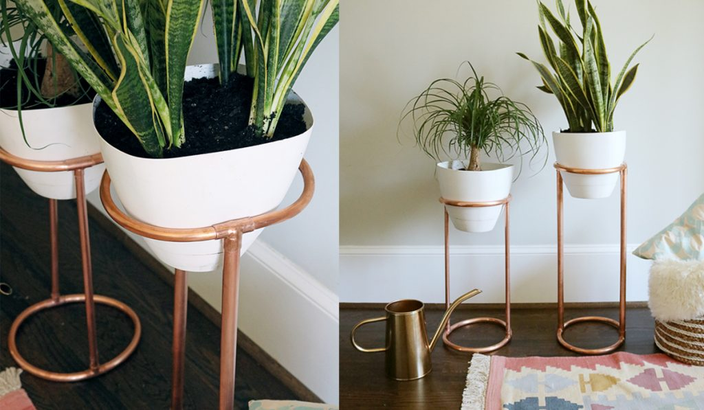 Copper Plant Stands