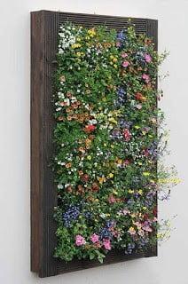 Flowery Vertical Wall Planter
