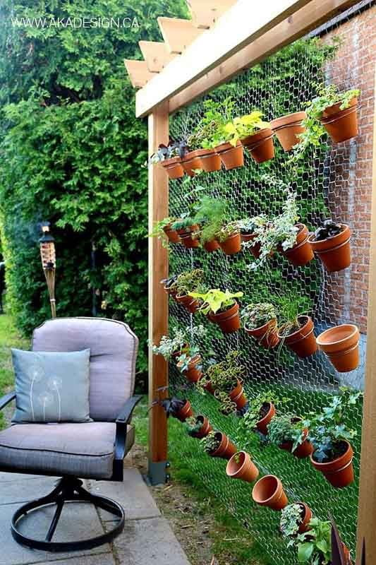 Hanging Chained Pots