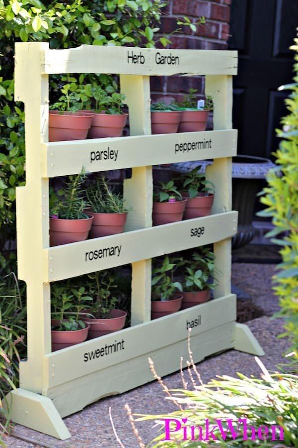 Herbs Growing Vertical Planter