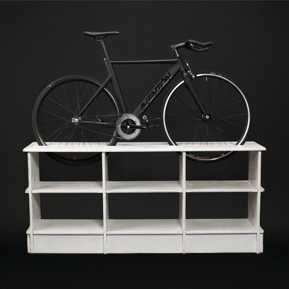 Horizontal Shelf with Bike Storage Place on Top