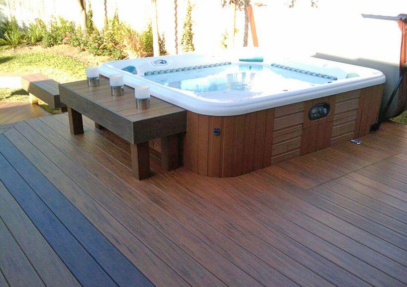 Hot Tub Enclosure with a Beach Deck