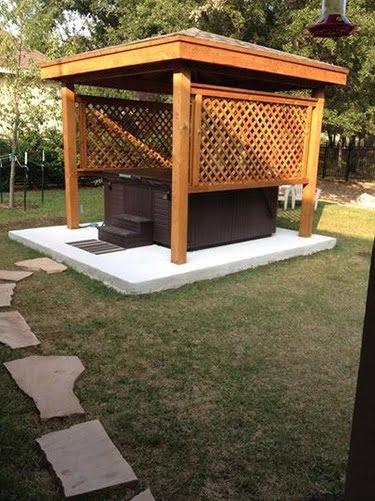 Hot Tub Enclosure with a Gazebo