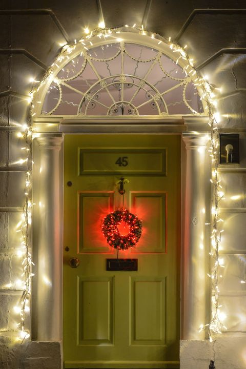 Intense Glowing Archway and Door