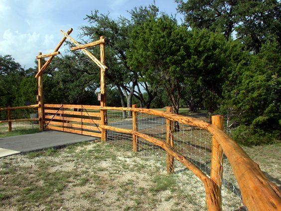 Log Style Fence