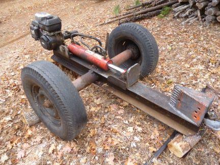 Old Car Wood Splitter