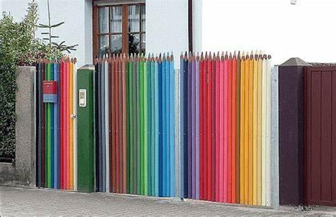 Pencil-Colour Fence