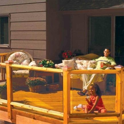 Platform Decks with Glass Railing