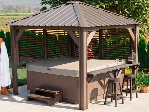 Privacy Intended Hot Tub Enclosure