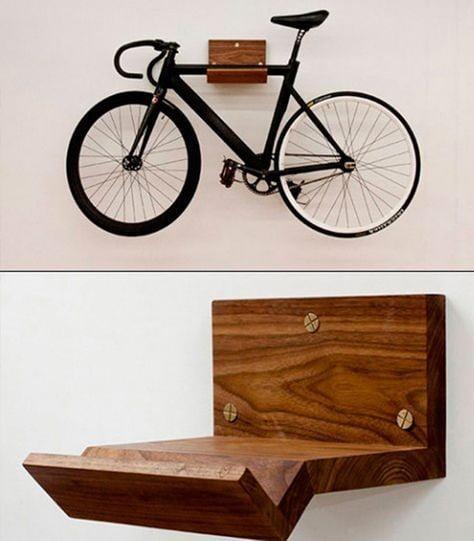 Simple Wooden Bike Holder