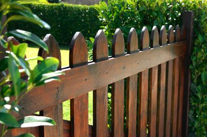 Stained Wooden Fence