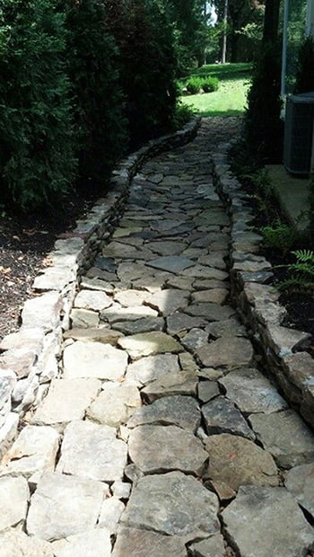 Stone Path Dry Riverbed