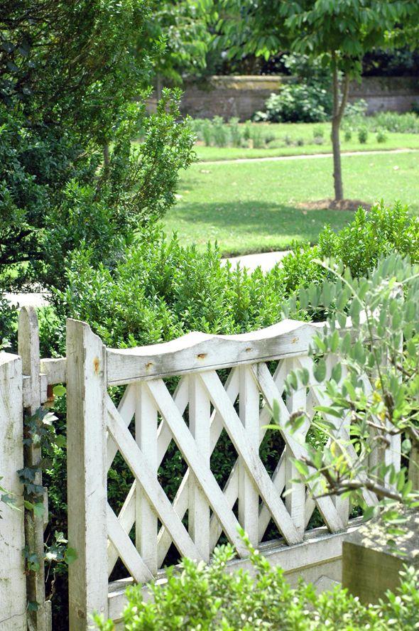 Weathered White Fence