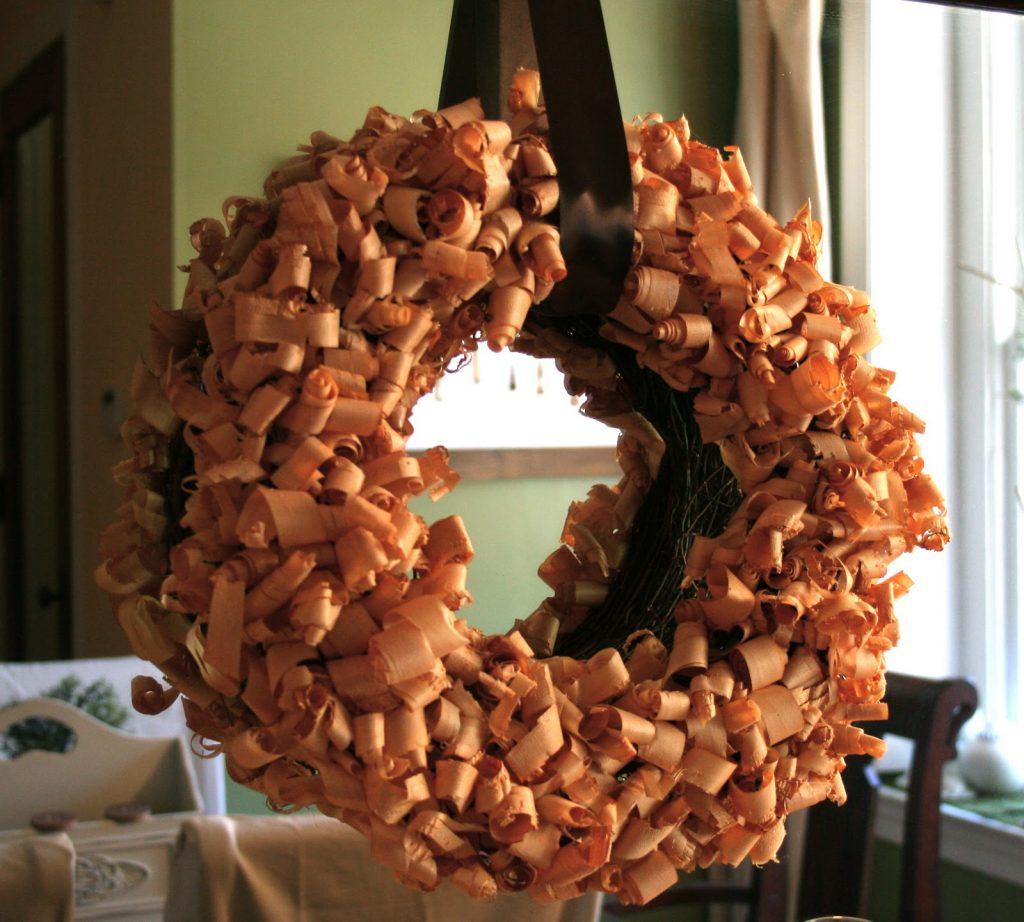 Wood Shavings Wreath