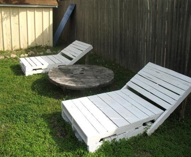 Wooden Chaise Lounger